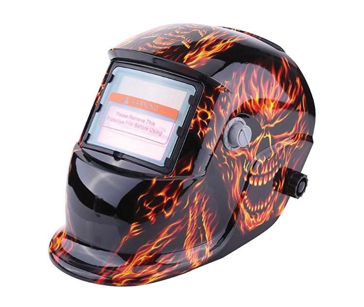 Skull Flames Welding Helmet
