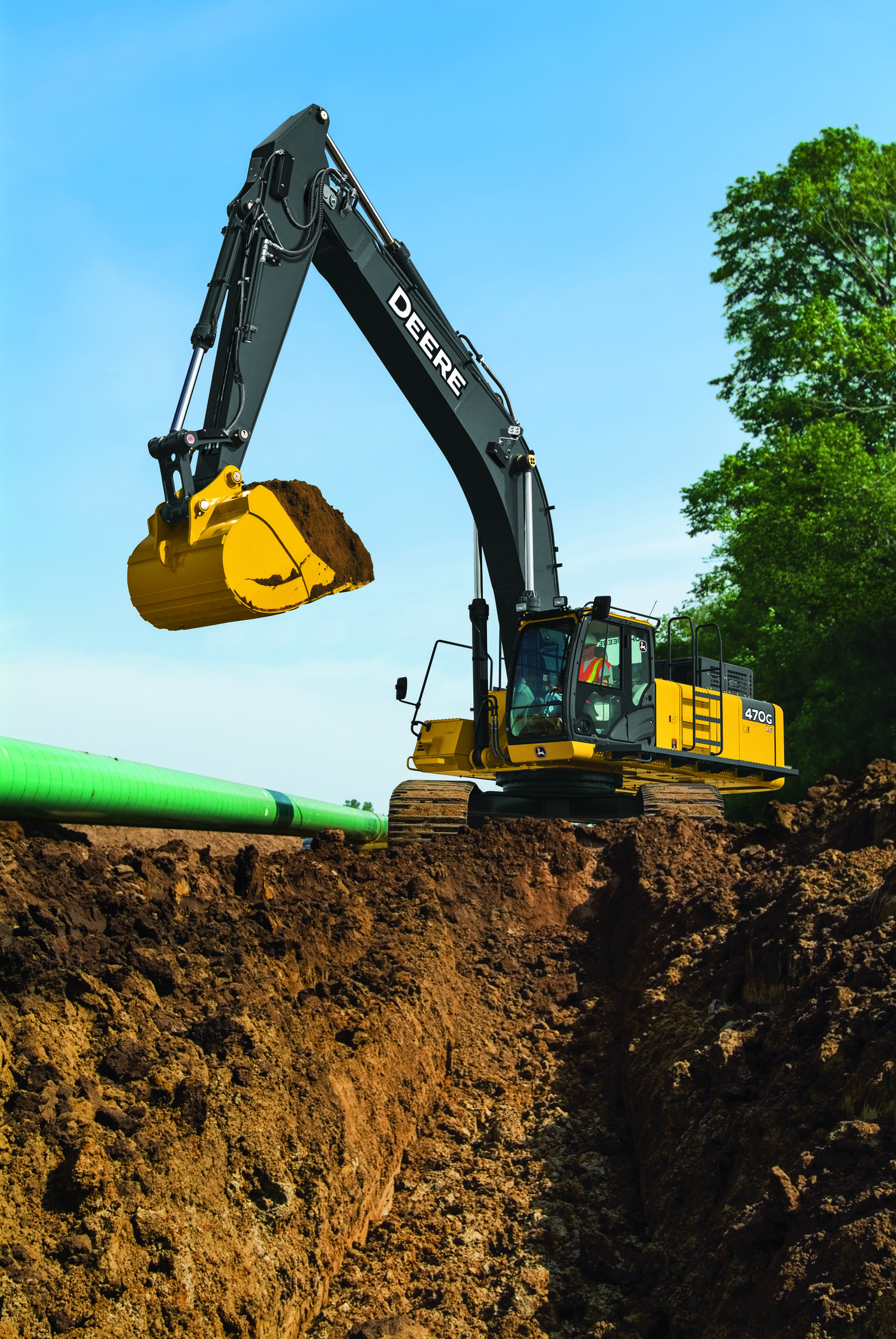 John Deere 470G LC Excavator Now Features Grade Guidance Technology