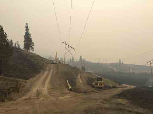 BC Hydro rebuilding damaged transmission towers in Cache