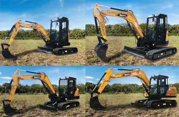 SANY Unveiled Four New Compact Excavators At CON EXPO 2017