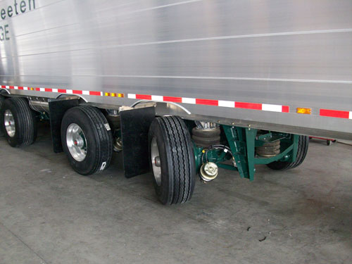 25k Lift Axle For Trailer : New high lift steering axle suspension from titan trailers