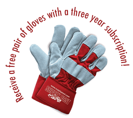 Free gloves with three year subscription!