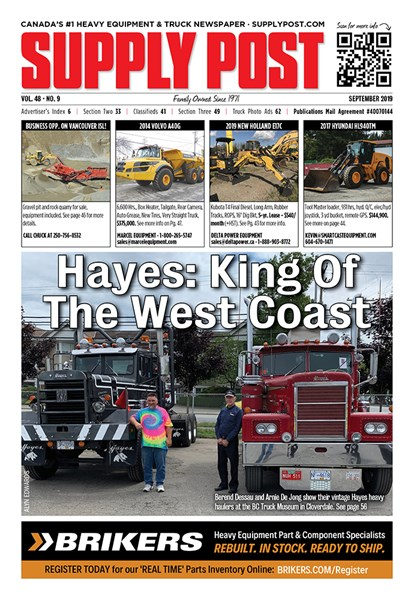 Supply Post Cover - Hayes: King of the West Coast - September 2019