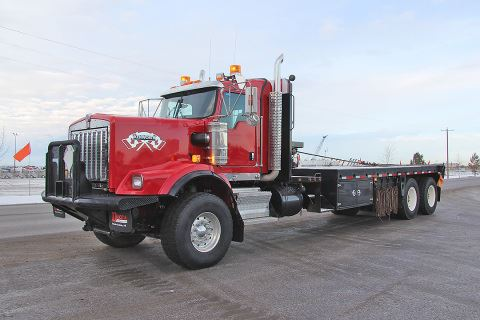 "2012 Kenworth C500 340"" Day Cab Single Steer Tandem Drive Bed Truck"