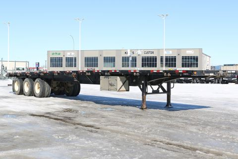 2014 Manac 53' sliding suspension flat deck hiboy