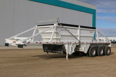 2017 Canuck 38' Tri-Axle Close Under Load Bottom Dump
